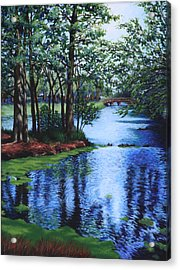 Acrylic Print featuring the painting Dancing Waters by Penny Birch-Williams