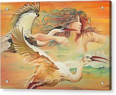 Dancing With Birds Acrylic Print