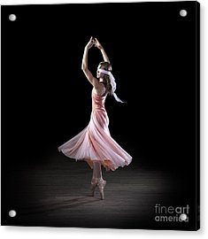 Dancing With Closed Eyes Acrylic Print by Cindy Singleton