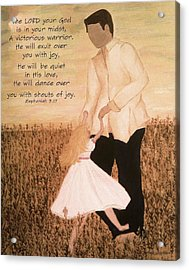 Dancing With Daddy Acrylic Print by Michelle Bentham
