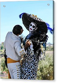 Dancing With The Death Acrylic Print by Menachem Ganon