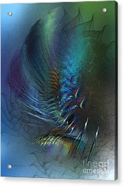 Dancing With The Wind-abstract Art Acrylic Print