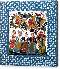 Dancing Women Acrylic Print by Leif Sodergren