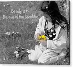 Dandelion Bouquet Acrylic Print by Heidi Manly