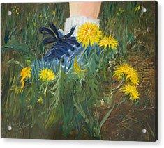 Dandelion Dance Acrylic Print