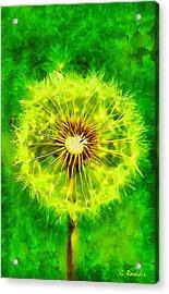 Dandelion Acrylic Print by George Rossidis