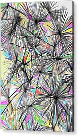 Dandelion Seeds - Abstract Acrylic Print by Marianna Mills