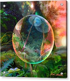 Acrylic Print featuring the painting Dandelion Wine by Robin Moline