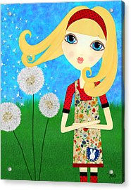 Dandelion Wishes Acrylic Print by Laura Bell