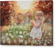 Dandelions Acrylic Print by Colleen Quinn