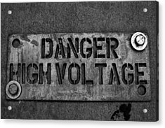 Danger High Voltage Acrylic Print