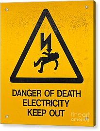 Danger Of Death - Electricity Acrylic Print by Shawn Hempel