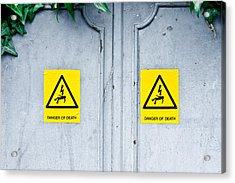 Danger Of Death Acrylic Print by Tom Gowanlock