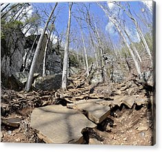 Dangerous Hiking Trail Acrylic Print