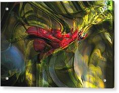 Acrylic Print featuring the digital art Dangerous by Richard Thomas