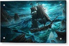 Dangerous Seas Acrylic Print by Anthony Christou