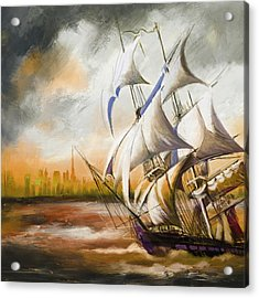 Dangerous Tides Acrylic Print by Corporate Art Task Force