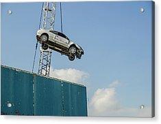 Dangling Car Acrylic Print by Robert Brook