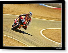Dani Pedrosa Running Out Of Road Acrylic Print