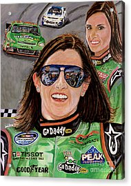 Danica Patrick Acrylic Print by Israel Torres