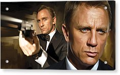 Daniel Craig - James Bond Artwork Acrylic Print