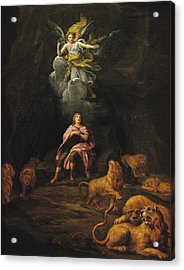 Daniel In The Den Of Lions Oil On Canvas Acrylic Print