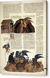 Daniel In The Lions' Den, 1430 Artwork Acrylic Print