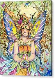 Danielle Acrylic Print by Sara Burrier