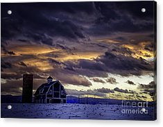 Acrylic Print featuring the photograph Daniel's Foreboding Sunset by Kristal Kraft