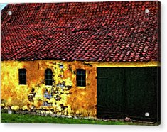 Danish Barn Impasto Version Acrylic Print by Steve Harrington