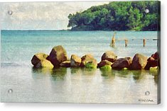 Danish Coast On The Rocks Acrylic Print by Jeffrey Kolker