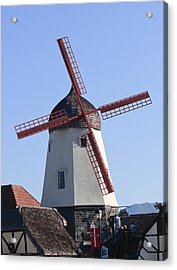 Danish Windmill Acrylic Print by Ivete Basso Photography