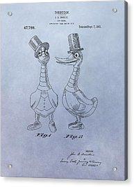 Danny Daddles Patent Acrylic Print