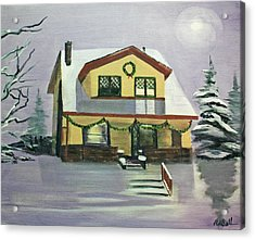 Dan's House Acrylic Print by Randy Bell