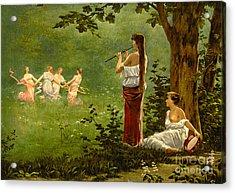 Dans La Prairie 1890 Acrylic Print by Padre Art