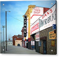 Acrylic Print featuring the painting Dan's by Stacy C Bottoms