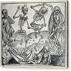 Danse Macabre Or Dance Of Death 1493 Acrylic Print by Everett