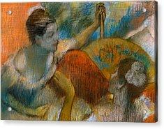 Danseuse A L'eventail Acrylic Print by Edgar Degas