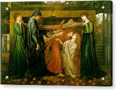 Dantes Dream At The Time Of The Death Of Beatrice 1856 Acrylic Print by Philip Ralley