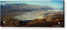 Dante's View Panorama Acrylic Print by David Salter