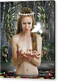 Danu Mother Goddess Acrylic Print by Keith Dillon