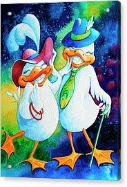 Dapper Duckies Acrylic Print by Hanne Lore Koehler