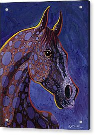 Acrylic Print featuring the painting Dapple Grey by Bob Coonts