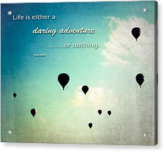 Daring Adventure Hot Air Balloons Acrylic Print by Eleanor Abramson
