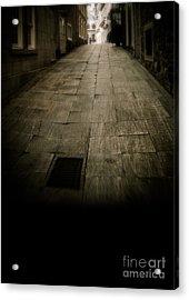 Dark Alley In Old Historic City Acrylic Print