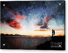 Dark Angel Acrylic Print by Stelios Kleanthous
