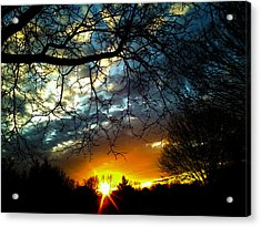 Dark Beauty Sunset Acrylic Print by James Hammen