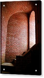 Dark Brick Passageway Acrylic Print by Frank Romeo