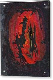 Dark Acrylic Print by Cim Paddock