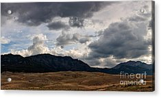 Acrylic Print featuring the photograph Dark Clouds On The Horizon by Charles Kozierok